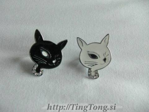 Prstan Black&White Cat 2467