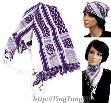 Rutka arafat mala White & Purple 2825