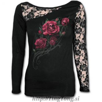 Girlie shirt Death Rose-LS