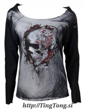 Faded Flower Skull-Alchemy Gothic 6187