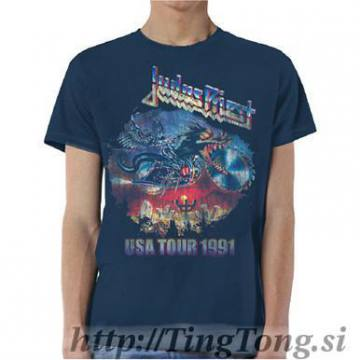 Painkiller Usa Tour 1991 Navy Blue-Judas Priest 12634