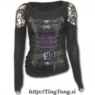 Girlie shirt Waisted Corset-LS