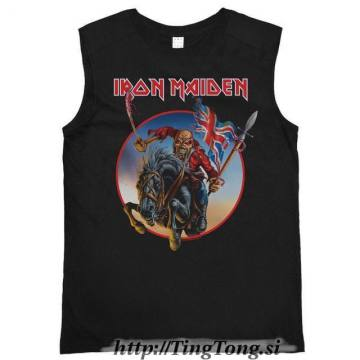Trooper On Steed Charcoal Vintage Vest-Iron Maiden 25586