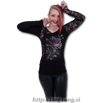Girlie shirt Skull Rose-LS 32589