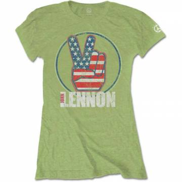 Peace Fingers US Flag-John Lennon 37102