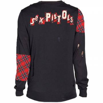 Distressed Tartan Logo- Sex Pistols 46425